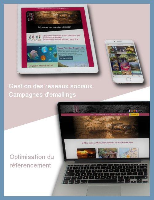 Webmarketing pour les Grottes de Sare