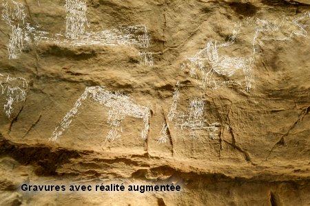 Réalité augmentée, grotte du Placard